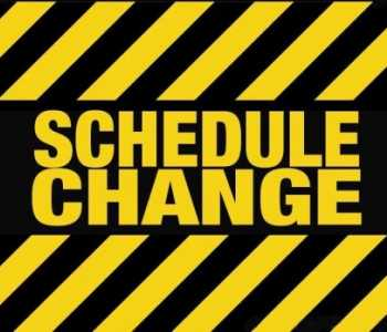 October Schedule Change